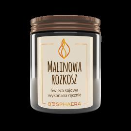 Sojowa świeca zapachowa Malinowa rozkosz