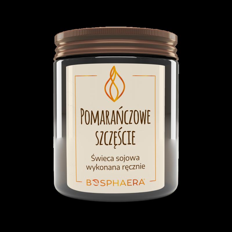 Sojowa świeca zapachowa Pomarańczowe szczęście