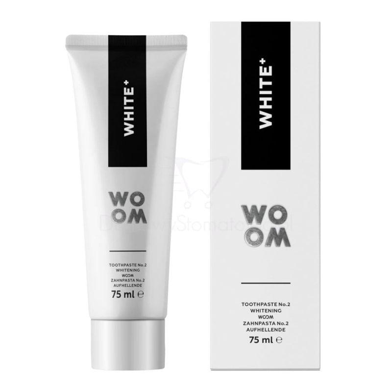 WOOM WHITE+ 75 ml - naturalna pasta intensywnie wybielająca zęby
