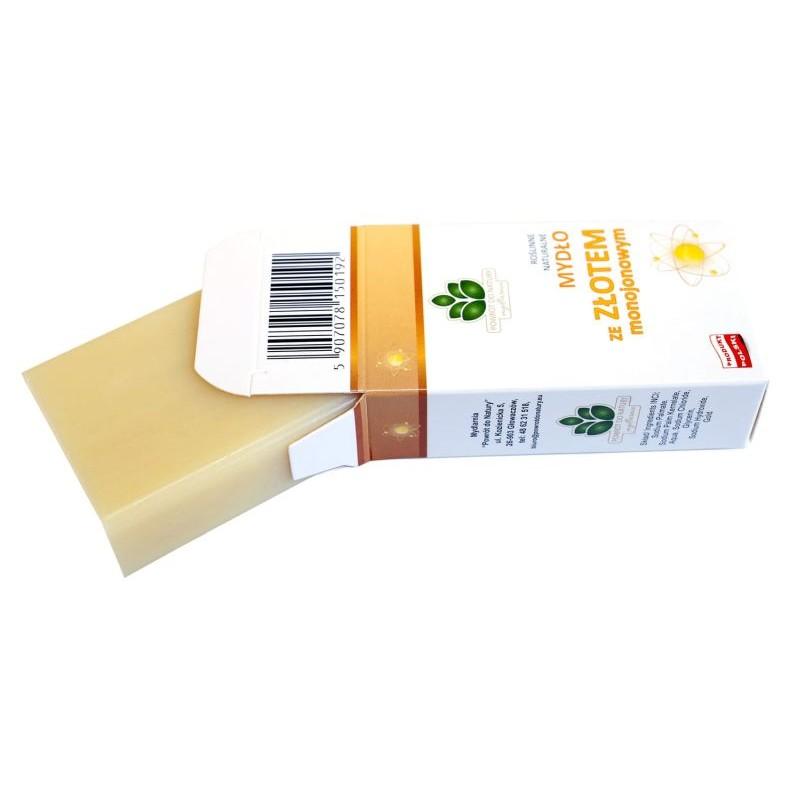 Naturalne mydło ze Złotem monojonowym 100g